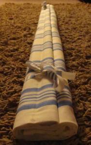 Lisa's Roman Blind from Laura Ashley Boys Thomas Blue Stripe