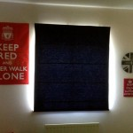 Navy Blue Roman Blind for a Boy&#039;s Bedroom