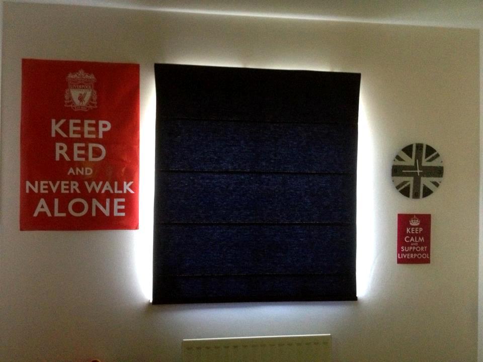 Navy Blue Roman Blind For A Boyu0027s Bedroom